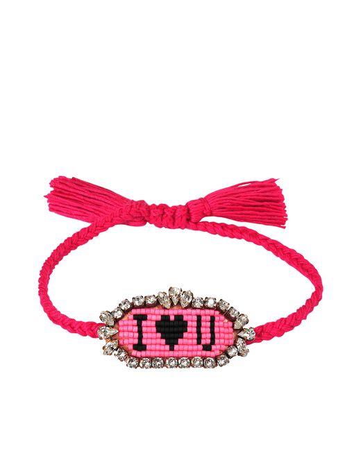 Shourouk | Pink I Love You Bracelet | Lyst
