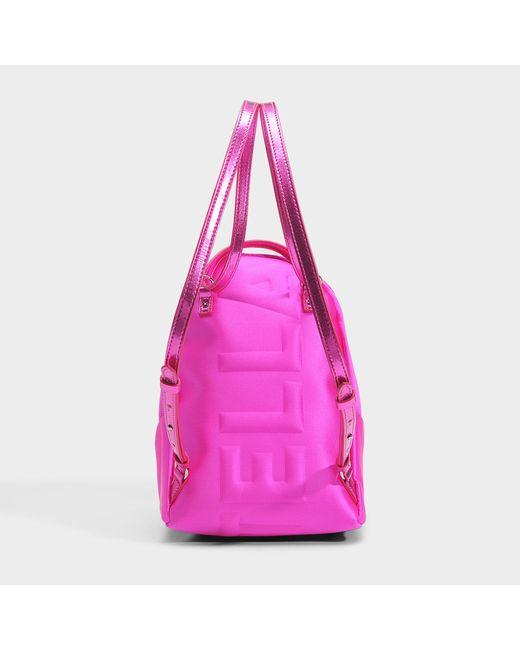 Satin Mini Stella Star Shoulder Bag in Bright Fuchsia Eco Fabric Stella McCartney OuVUU90Zh