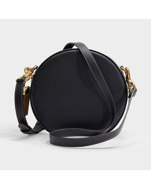 ... COACH - Glovetanned Leather Canteen Crossbody Bag In Black Calfskin -  Lyst ... c2ee822d2d6c8