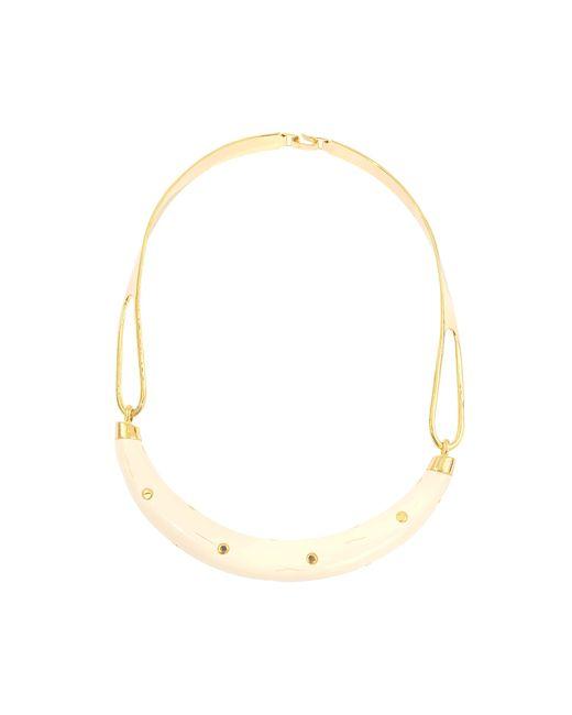 Aurelie Bidermann | Metallic Studded Caftan Moon Necklace | Lyst