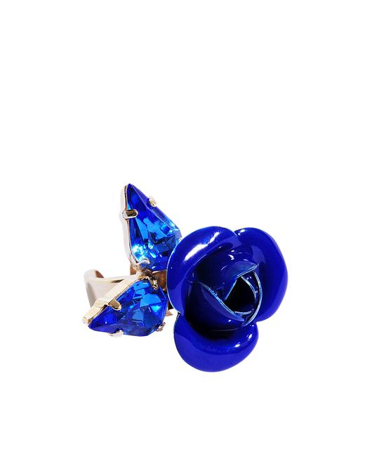 Roberto Cavalli | Blue Tortesoishell And Rhinestone Ring | Lyst