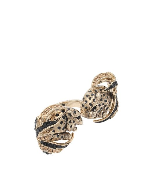 Roberto Cavalli | Metallic Double Jaguar Ring | Lyst