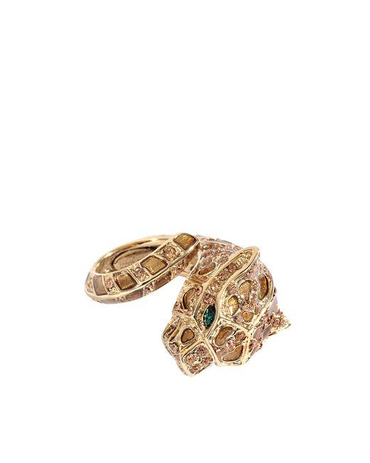 Roberto Cavalli | Metallic Panther Crystals Ring | Lyst