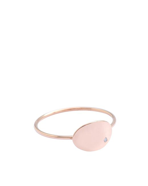 Ginette NY | Pink Mini Ellipses & Sequins Ring | Lyst