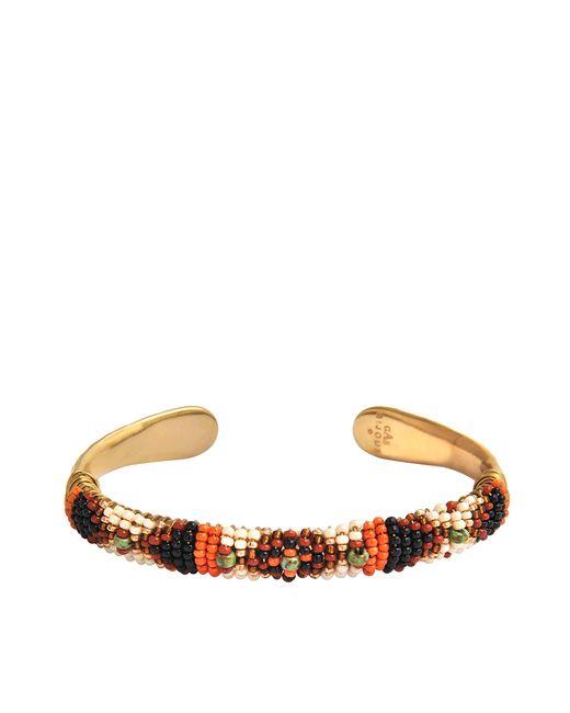 Gas Bijoux | Metallic Massai Wood Rocaille Bracelet | Lyst