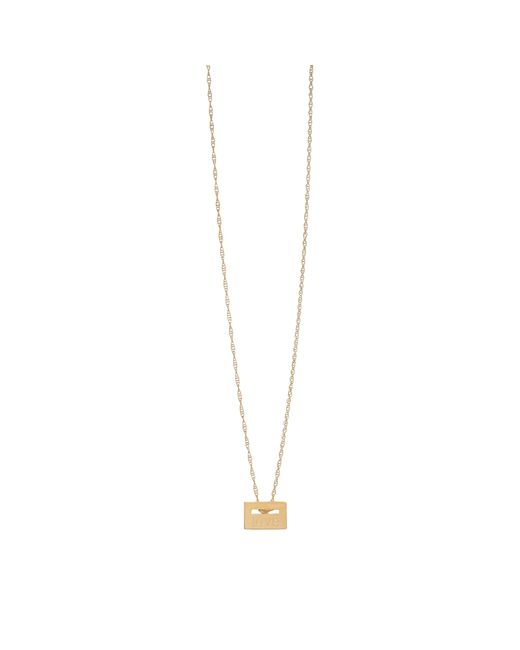 """Ginette NY   Metallic """"love"""" Rose Gold Plated Necklace   Lyst"""
