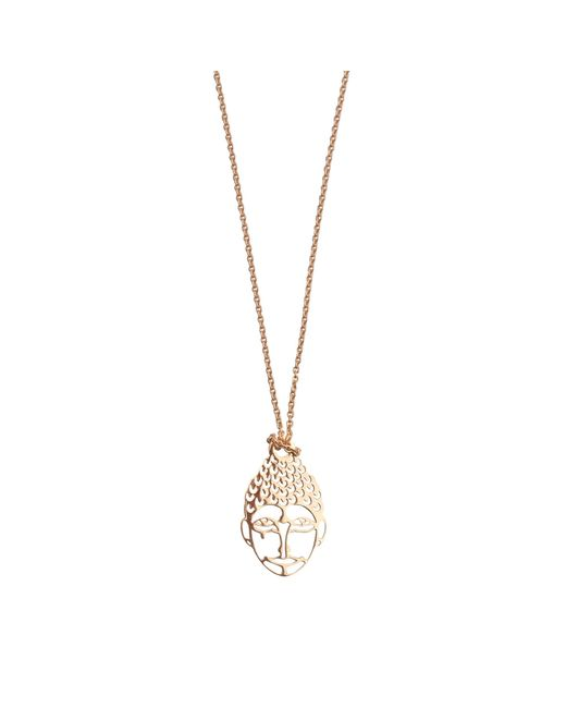 Ginette NY | Metallic Mini Buddha Necklace | Lyst