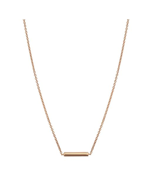 Ginette NY   Metallic Gold Strip Necklace   Lyst