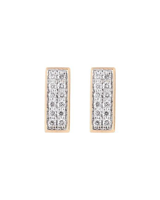 Ginette NY | Metallic Diamond Baguette Stud Earrings | Lyst