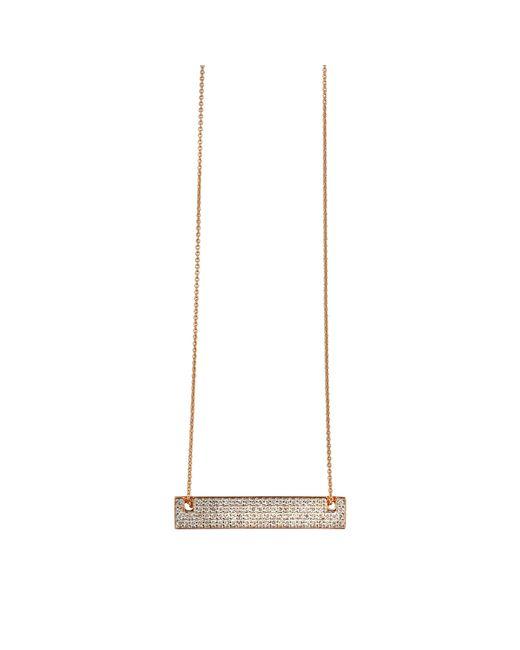 Ginette NY | Metallic Mini Diamond Baguette On Chain Necklace | Lyst