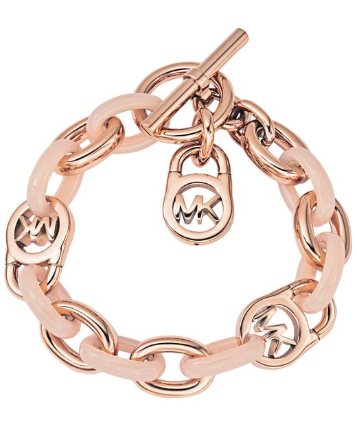 MICHAEL Michael Kors | Metallic Armband Rose Gold & Blush | Lyst