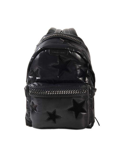 Stella McCartney | Black Falabella All Over Stars Backpack | Lyst