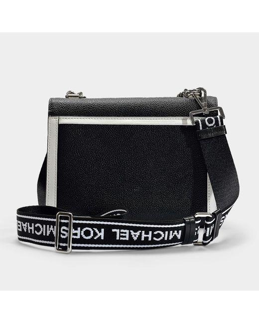 7bc279e21c0 ... MICHAEL Michael Kors - Whitney Large Shoulder Bag In Black And Optic  White Grained Calfskin ...