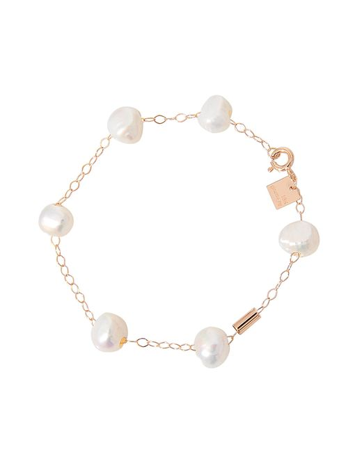 Ginette NY   White Pearls And Tube On Chain Bracelet   Lyst