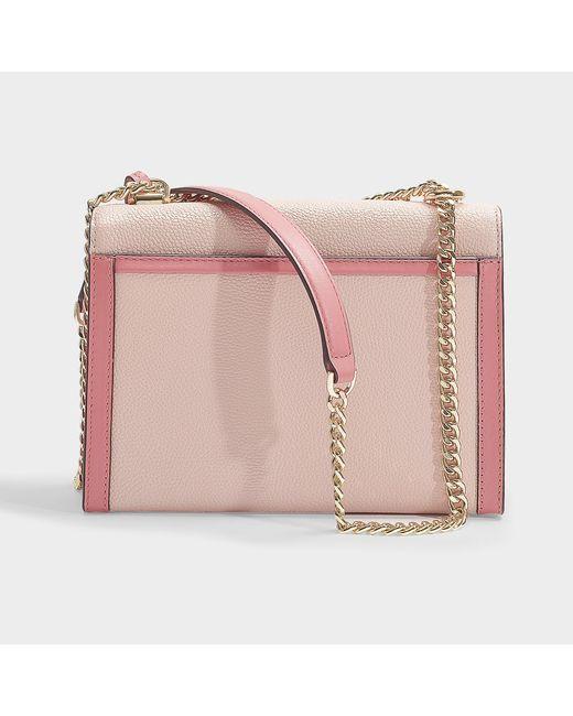 62d8acea6715 ... MICHAEL Michael Kors - Whitney Large Shoulder Bag In Soft Pink Grained  Calfskin - Lyst ...