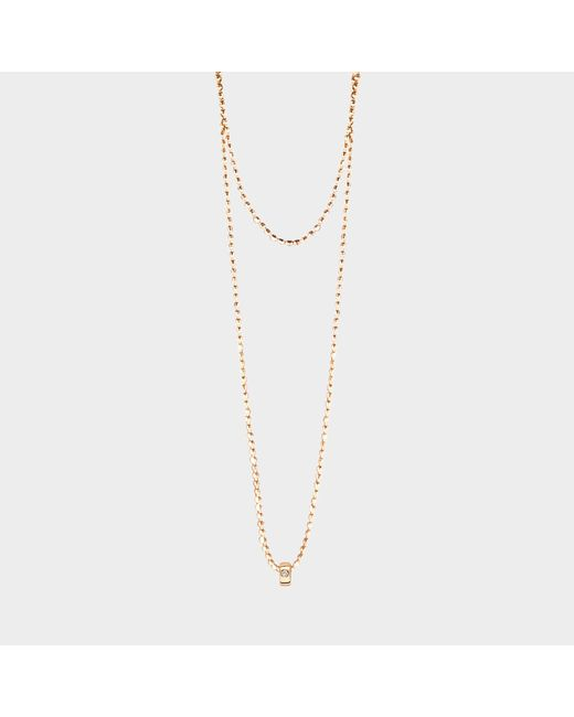Ginette NY - Metallic Mini Tube & Diam Necklace - Lyst