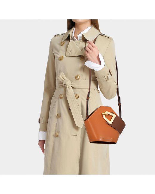 666fa498a334 ... Danse Lente - Mini Johnny Bucket Bag In Light Brown Leather - Lyst ...