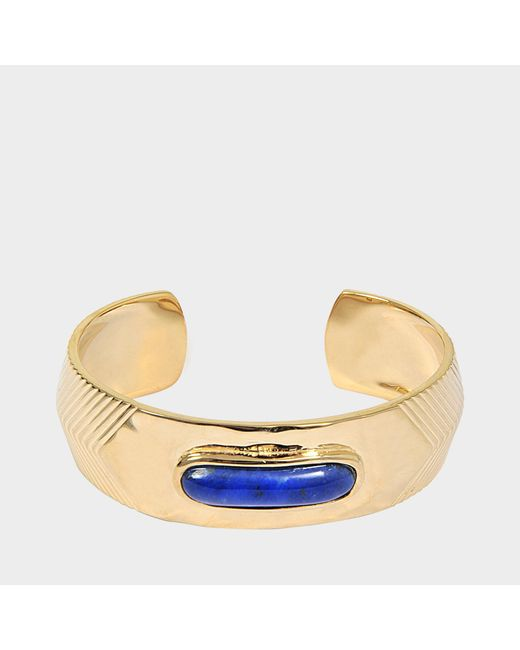 Aurelie Bidermann - Metallic Peggy Bracelet With Lapis Lazuli - Lyst