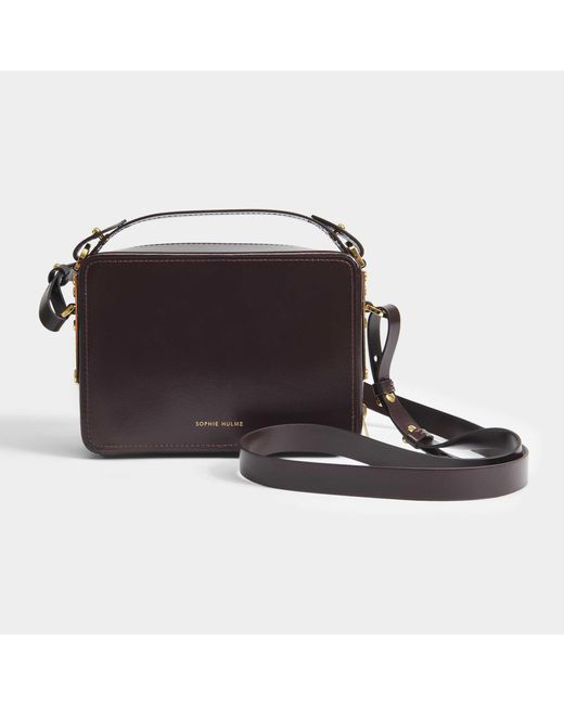 Sophie Hulme - Multicolor Mini Trunk Bag In Oxblood Calf Leather - Lyst