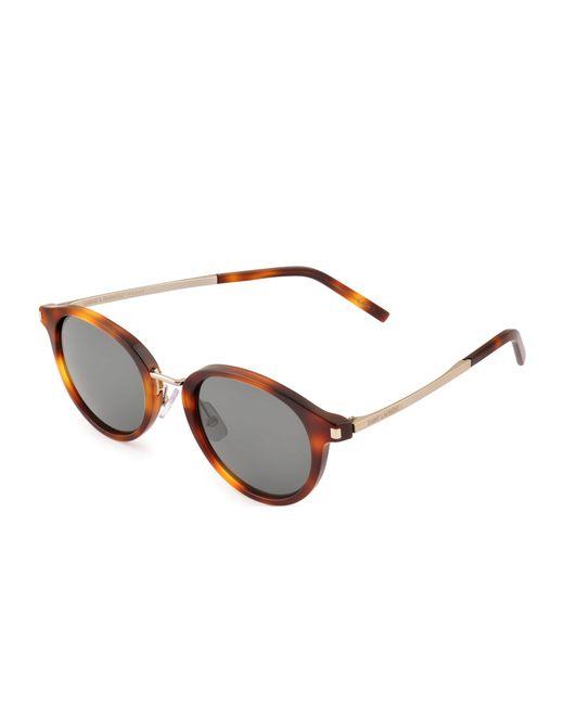 Saint Laurent | Brown Sl 57 Sunglasses | Lyst