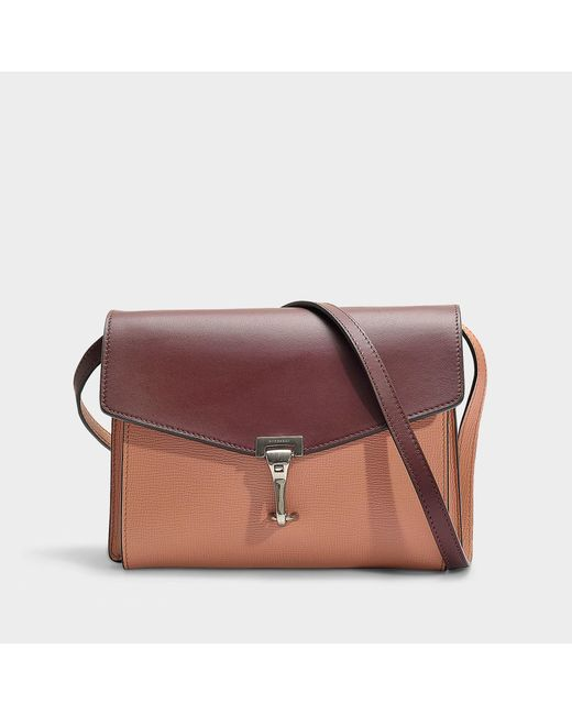 Burberry - Small Macken Bag In Antique Pink And Maroon Calfskin - Lyst