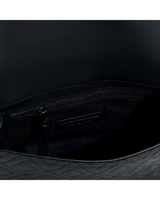 130fcc0155f1f ... Tory Burch - Black Petit Sac Porté Epaule Fleming Matte Convertible en Cuir  Synthétique Noir -