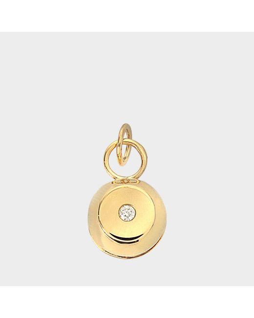 Aurelie Bidermann - Metallic Telemaque Bell Pendant 750/1000th Yellow Gold With Diamond - Lyst