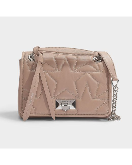 2c9fae4aaa5 Jimmy Choo - Helia Shoulder Bag S In Ballet Pink Star Matelasse Nappa  Leather - Lyst ...