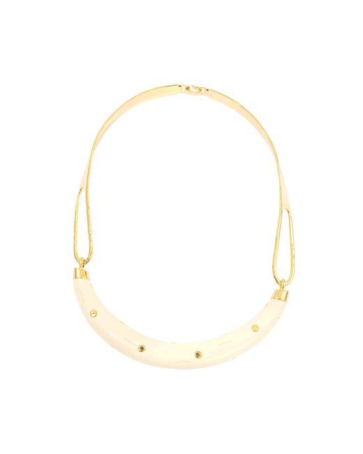 Aurelie Bidermann   Pink Studded Caftan Moon Necklace   Lyst