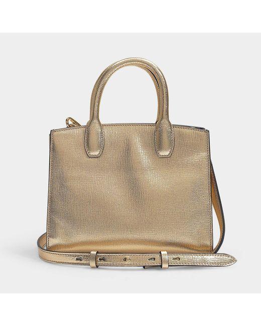 7429d0c293 Ferragamo The Studio Small Bag In Yellow Calfskin in Yellow - Lyst