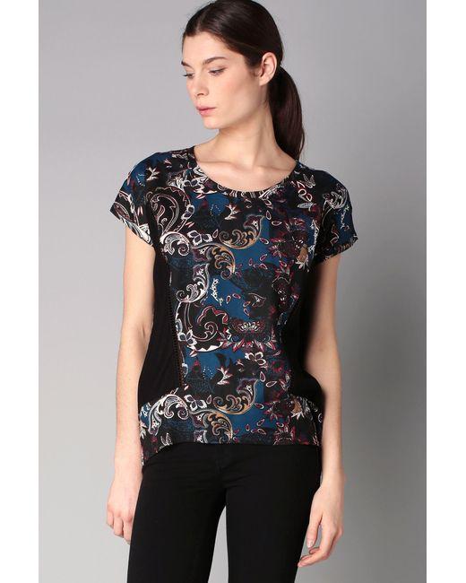 Vero Moda - Blue Short Sleeve Top - Lyst
