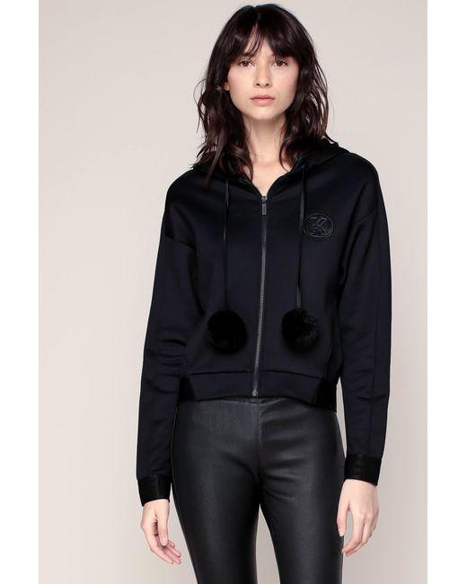 Karl Lagerfeld | Black Sports Clothe | Lyst