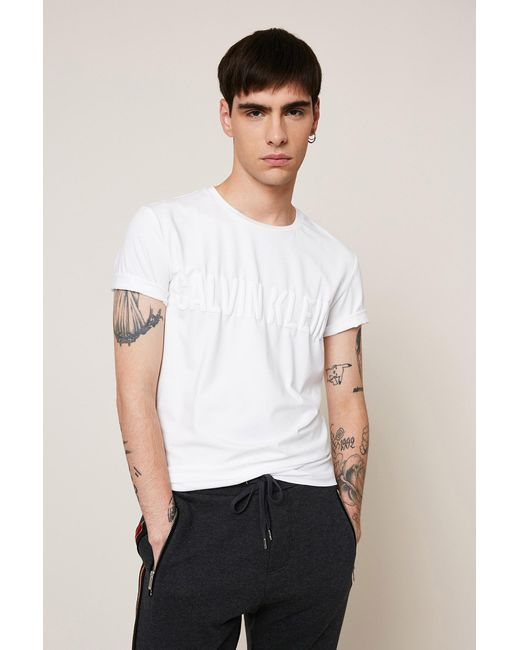 Calvin Klein | White T-shirt for Men | Lyst