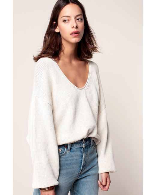 Free People | White Jumper | Lyst