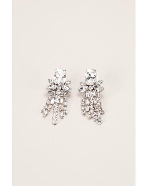 Shourouk | White Earrings | Lyst