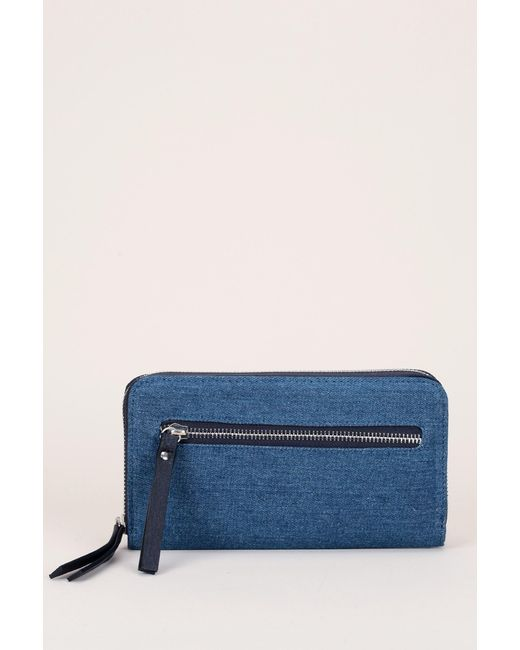 Pieces | Blue Wallet And Coin Purse | Lyst
