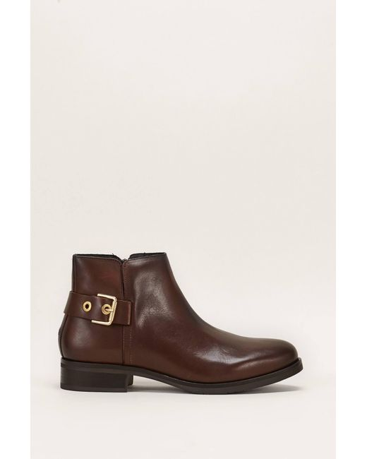 Tommy Hilfiger - Brown Bootee And Ankle Boot - Lyst