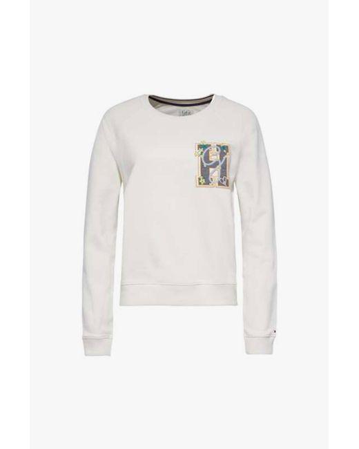 Tommy Hilfiger - White Sweatshirt - Lyst