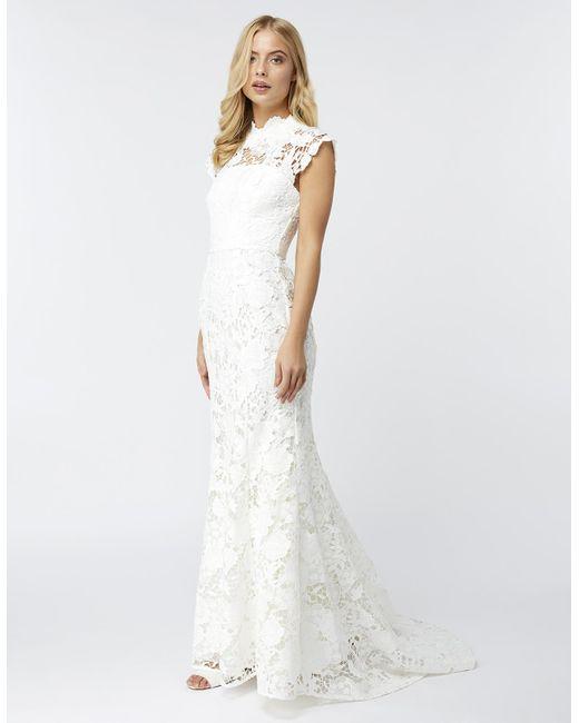 Monsoon White Emilie Lace Bridal Maxi Dress Lyst