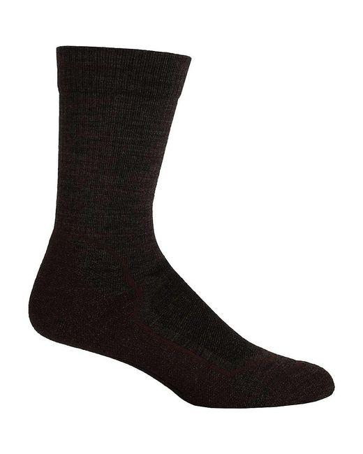 Icebreaker - Black Hike+ Light Crew Sock for Men - Lyst