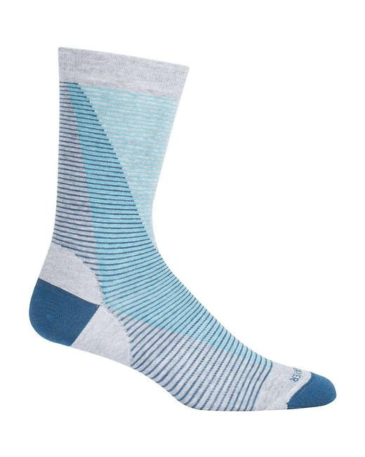 Icebreaker - Blue Lifestyle Fine Gauge Ultra Light Leaning Ladders Crew Sock for Men - Lyst
