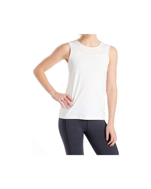Oiselle - White Cleo Tank Top - Lyst