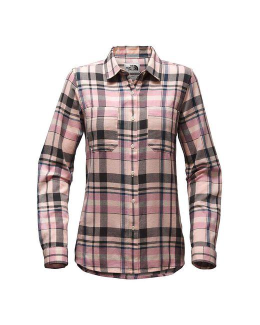 The North Face - Black Castleton Ls Shirt - Lyst