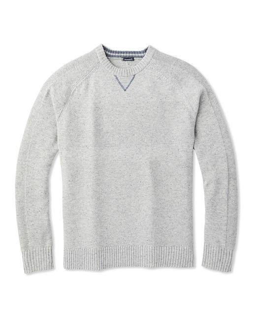 Smartwool Gray Ripple Ridge Crew Sweater for men