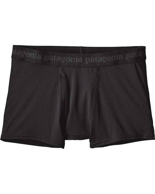 Patagonia - Black Capilene Daily Boxer Brief for Men - Lyst