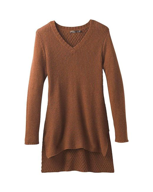 Prana - Brown Deedra Sweater Tunic - Lyst