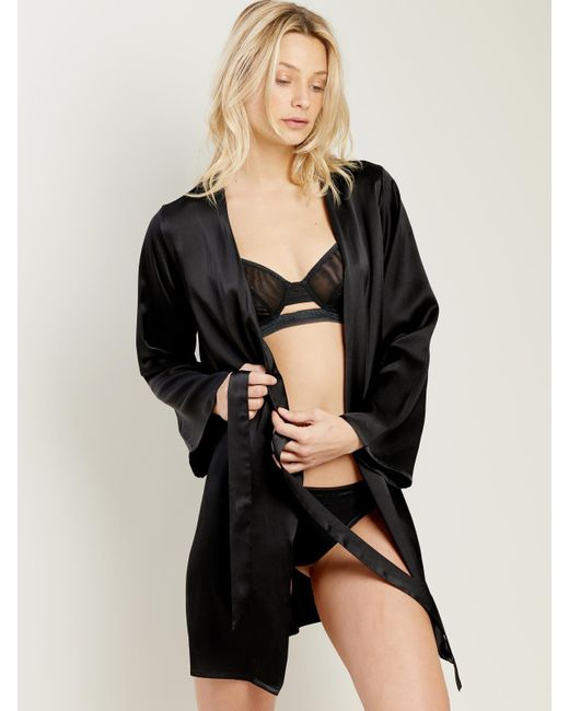 Morgan Lane - Black Langley Robe In Noir - Lyst