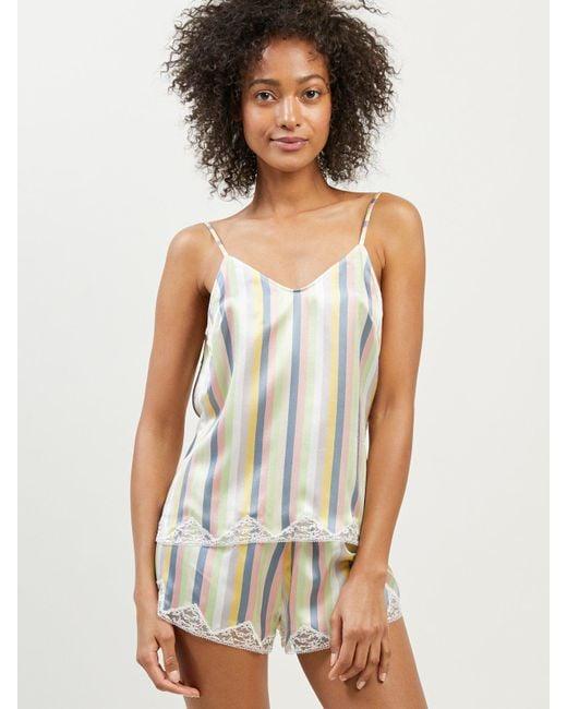 Morgan Lane - Multicolor Jac Top In Sorbet Stripe - Lyst
