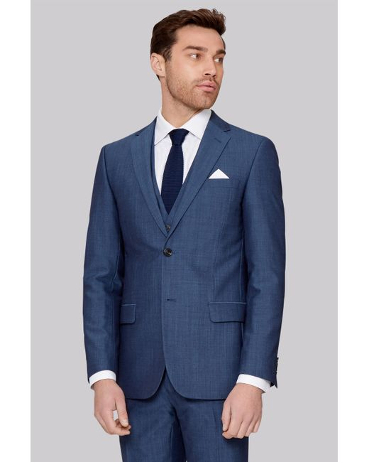 4e6d4134405632 Ted Baker - Blue Tailored Fit Petrol Jacket for Men - Lyst ...