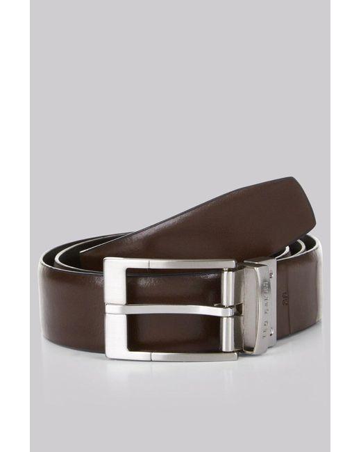 Ted Baker - Reversible 'connary' Belt Black/brown for Men - Lyst